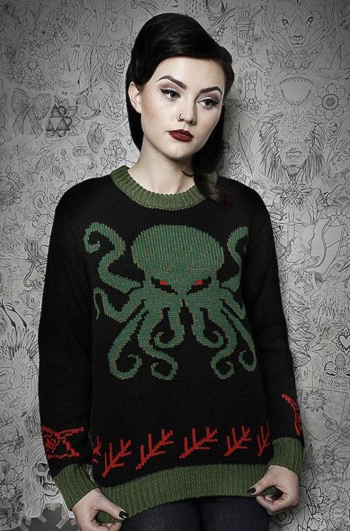 Christmas Cthulhu sweater